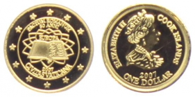 Cook-Inseln - 2007 - 50 Jahre Römische Verträge - Vatikan - 1 Dollar - PP