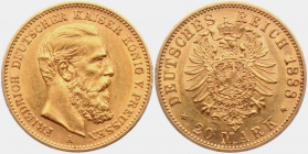 Preussen - J 248 - 1888 A - Friedrich III. (1888) - 20 Mark vz