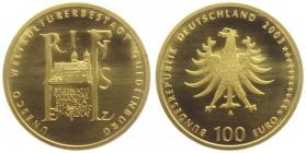 Deutschland - 2003 A - Quedlinburg - 100 Euro - 1/2 Unze - st