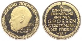 Deutschland - ohne Jahr - Bundeskanzler Konrad Adenauer - Goldmedaille - PP