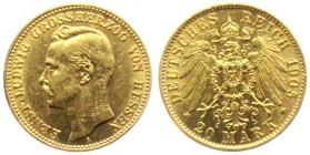 Hessen - J 226 - 1905 A - Ernst Ludwig (1892 - 1918) - 20 Mark vz