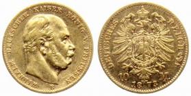 Preussen - J 242 - 1873 B - Wilhelm I. (1861 - 1888) - 10 Mark ss