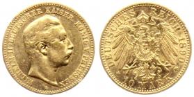 Preussen - J 251 - 1890 A - Wilhelm II. (1888 - 1918) - 10 Mark - ss+ min. RF