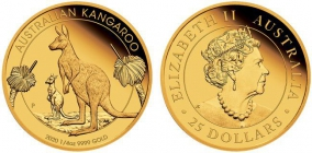 Australien - 2020 - Känguruh - 25 Dollars - 1/4 Unze - PP