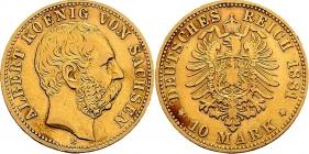 Sachsen - J 261 - 1881 E - Albert (1873 - 1902) - 10 Mark ss