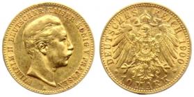 Preussen - J 251 - 1900 A - Wilhelm II. (1888 - 1918) - 10 Mark - vz min. RF