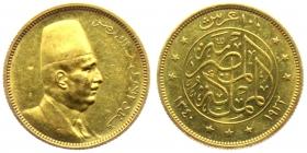 Ägypten - 1922 - Faud I. - 100 Piaster - vz Druckst.