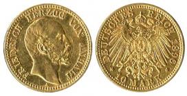 Anhalt - J 180 - 1896 A  - Friedrich (1871 - 1904) - 10 Mark - ss+