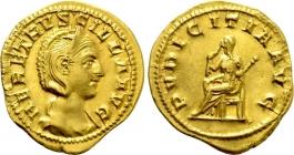 Römische Kaiserzeit - Aureus - Herennia Etruscilla (Augusta, 249 - 251) - ss-vz