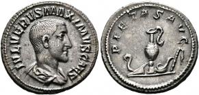 Römische Kaiserzeit - Denarius - Maximus Caesar (236 - 238) - vz - in Slab CH VF