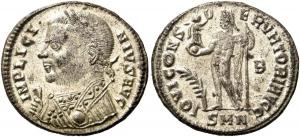 Römische Kaiserzeit - Liciunius I. (308 - 324) - Follis- vz - in Slab MS