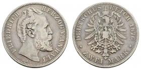 Anhalt - J 19 - 1876 A - Friedrich I. (1871 - 1904) - 2 Mark - s-ss