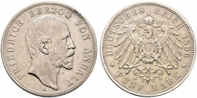 Anhalt - J 21 - 1876 A - Friedrich I. (1871 - 1904) - 5 Mark - f.vz