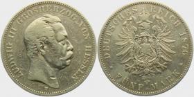 Anhalt - J 24 - 1914 A - Friedrich II. (1904 - 1918) - Silberhochzeit - 3 Mark - vz-st - min. RF