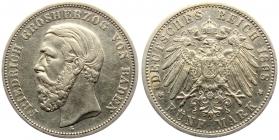Baden - J 29 - 1898 G - Friedrich I. (1852 - 1907) - 5 Mark - ss-vz