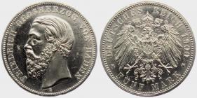 Baden - J 29 - 1900 G - Friedrich I. (1852 - 1907) - 5 Mark - vz-st min. Kr.