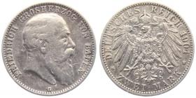 Baden - J 32 - 1904 G - Friedrich I. (1852 - 1907) - 2  Mark - ss-vz
