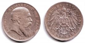 Baden - J 33 - 1904 G - Friedrich I. (1852 - 1907) - 5 Mark - ss