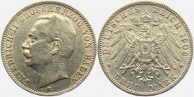 Baden - J 39 - 1908 G - Friedrich II. (1907 - 1918) - 3 Mark - ss-vz