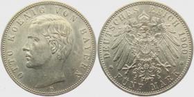 Bayern - J 46 - 1900 D - König Otto (1886 - 1913) - 5 Mark - vz-st