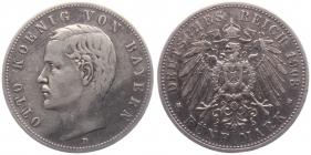 Bayern - J 46 - 1903 D - König Otto (1886 - 1913) - 5 Mark - ss