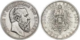 Hessen - J 69 - 1888 A - Ludwig IV. (1877 - 1892) - 5 Mark - ss