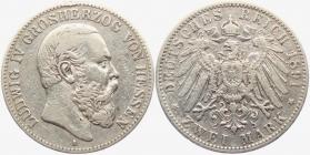 Hessen - J 70 - 1891 A - Ludwig IV. (1877 - 1892) - 2 Mark - ss