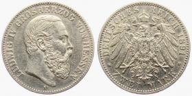 Hessen - J 70 - 1891 A - Ludwig IV. (1877 - 1892) - 2 Mark - ss-vz
