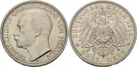Hessen - J 76 - 1910 A - Ernst Ludwig (1892 - 1918) - 3 Mark - f.st min. RF