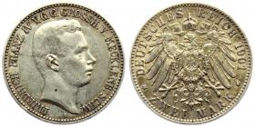 Mecklenburg-Schwerin - J 85 - 1901 A - Friedrich Franz IV. (1901 - 1918) - 2 Mark - vz