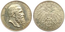 Reuß, ältere Linie - J 118 - 1901 A - Heinrich XXII. (1867 - 1902) - 2 Mark - f.st min. Kr.