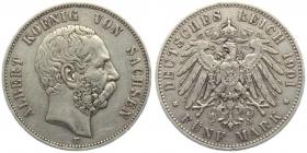 Sachsen - J 125 - 1901 E - Albert (1873 - 1902) - 5 Mark - ss-vz