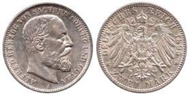 Sachsen-Coburg-Gotha - J 145 - 1895 A - Alfred (1893 - 1900) - 2 Mark - vz min. kr.