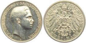 Sachsen-Coburg-Gotha - J 147 - 1905 A - Carl Eduard (1950 - 1918) - 2 Mark - vz-st