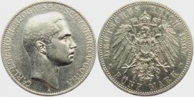 Sachsen-Coburg-Gotha - J 148 - 1907 A - Carl Eduard (1950 - 1918) - 5 Mark - vz