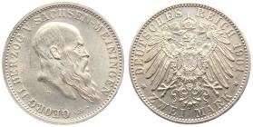 Sachsen-Meiningen - J 149 - 1901 D - Georg II. (1866 - 1914) - 2 Mark - vz-st