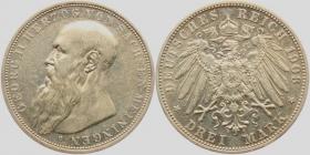 Sachsen-Meiningen - J 152 - 1908 D - Georg II. (1866 - 1914) - 3 Mark - vz+