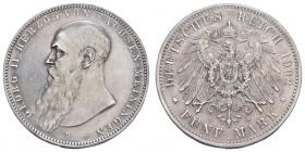 Sachsen-Meiningen - J 153b - 1902 D - Georg II. (1866 - 1914) - 5 Mark - ss-vz ber.