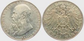 Sachsen-Meiningen - J 154 - 1915 - Georg II. (1866 - 1914) - Auf den Tod mit Lebensdaten - 2 Mark - f.st