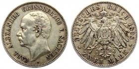 Sachsen-Weimar-Eisenach - J 156 - 1898 A - Carl Alexander (1853 - 1901) - 2 Mark - vz