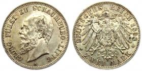 Schaumburg-Lippe - J 164 - 1898 A - Georg (1893 - 1911) - 2 Mark - vz+