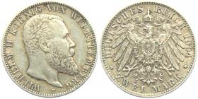 Württemberg - J 174 - 1904 F - Wilhelm II. (1891 - 1918) - 2 Mark - vz
